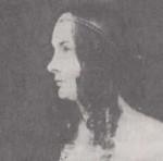 Elise Rüdiger auf einem  Gemälde von Johannes Sprick, etwa 1840; Quelle: Wikipedia