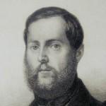 Levin Schücking auf einem  Stahlstich von H. Weger; Quelle: Wikipedia