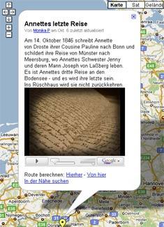 Karte mit Audioshow