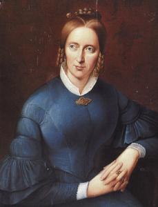 Mehr über Annette von Droste-Hülshoff (hier auf einem Gemälde von Sprick)