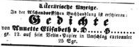 Anzeige im Westfälischen Merkur