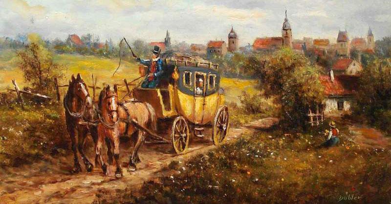 Postillon im 19. Jahrhundert.