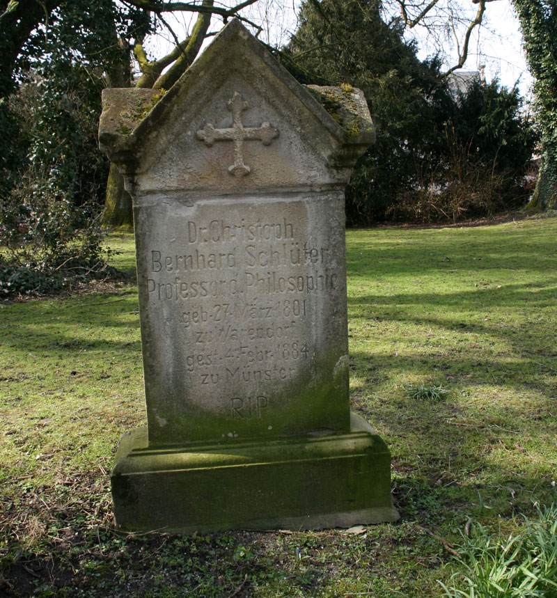 Schlüters Grab auf dem Hörster Friedhof in Münster. Foto: Monika Gemmer