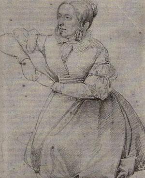 Annette von Droste auf ihrem Kanapee
